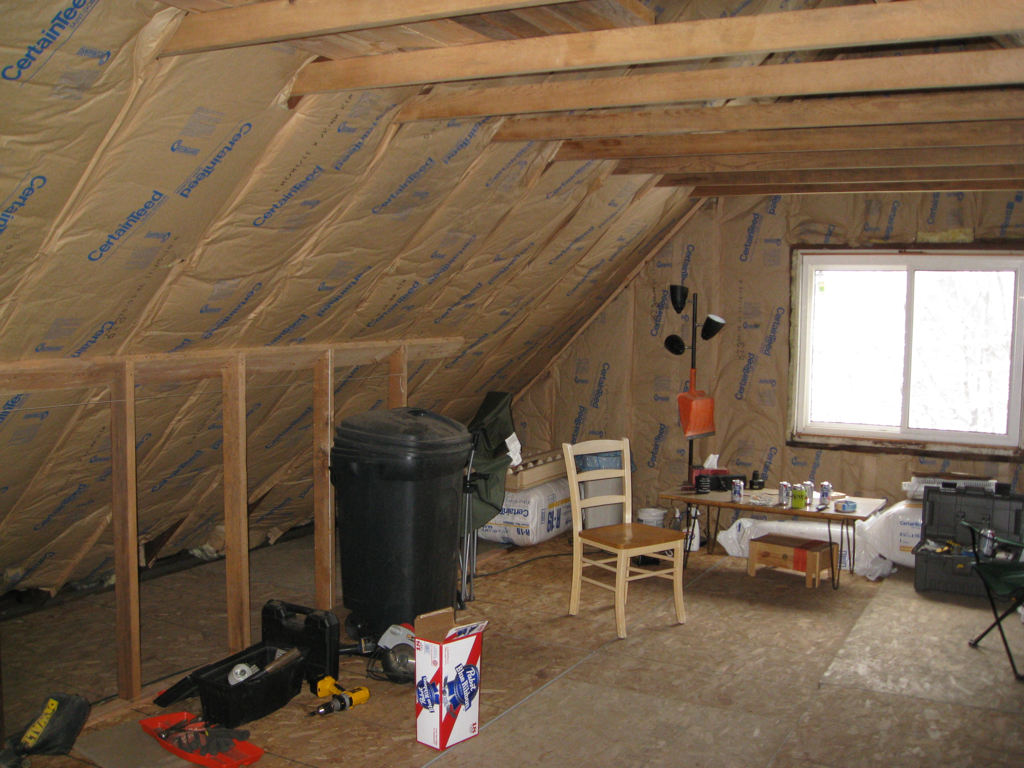 Attic Room Wall Insulation