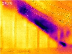 This knee wall attic is supposed to be sealed. But it's not. Without blower door and infrared testing this job would have been called good.