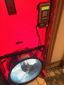 Using a blower door to blow lots of air into a house during a spray foam job drastically reduces exposure to fumes.