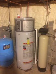 Heat pump water heater during install