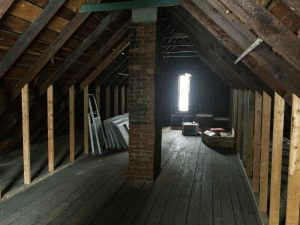 1915 Case Study attic before work