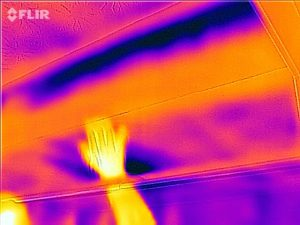 This is a bathroom soffit in infrared