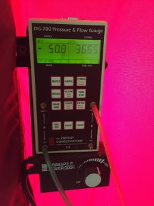 Final blower door reading 3665 cfm50 down from 8910, a 58% drop.