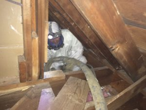 When insulating a house, you can end up in pretty small spaces
