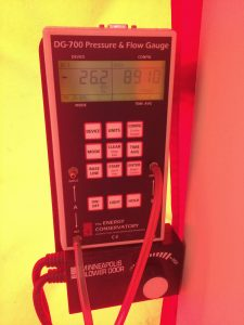 Very high blower door reading