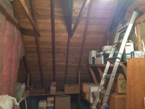 Strange attic that backs up to master bedroom with cold wall