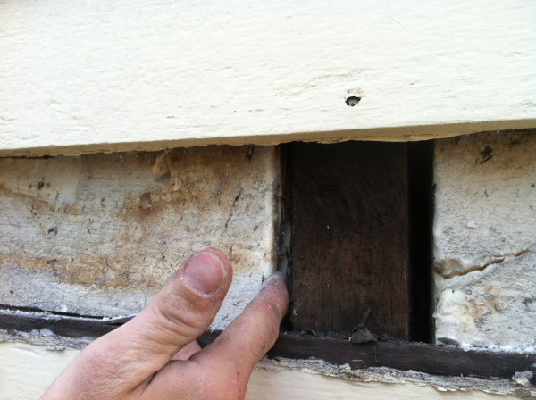 Gap Where Spray Foam Shrank In Existing Home Wall Likely Tripolymer Type